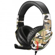 TECHMADE CUFFIE GAMING MULTIMEDIALI CAMO