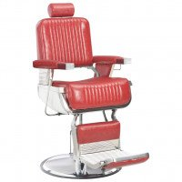 Chaise de barbier Rouge 68x69x116 cm Similicuir