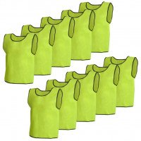 10 pcs Gilet de formation Junior Jaune