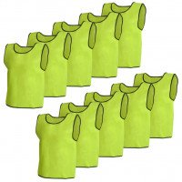 10 pcs Gilet de formation Senior Jaune