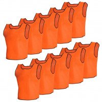 10 pcs Gilet de formation Senior Orange