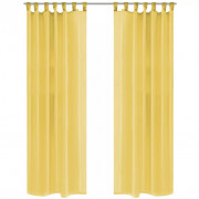 2 Pz Tende in Voile 140x225 cm Giallo