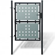 VidaXL Portillon de jardin Single Noir 100 x 175 cm