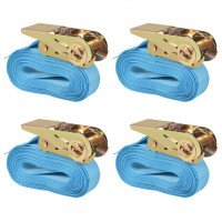 Sangle d'arrimage 4 pcs 0,8 tonne 6 m x 25 mm Bleu