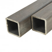 Tube carré Acier de construction 4 pcs 2 m 40x40x2 mm