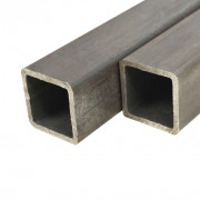 Tube carré Acier de construction 2 pcs 1 m 80x80x2 mm