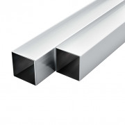 Tube avec section carrée Aluminium 6 pcs 1 m 25x25x2 mm
