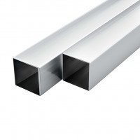 VidaXL Tube avec section carrée Aluminium 6 pcs 2 m 30x30x2 mm