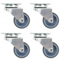 Roulettes pivotantes doubles 4 pcs 50 mm
