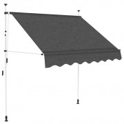 Tenda da Sole Retrattile Manuale 150 cm Antracite