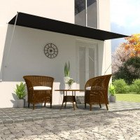 Tenda da Sole Retrattile 400x150 cm Antracite