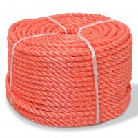Corde torsadée Polypropylène 8 mm 500 m Orange