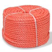 Corde torsadée Polypropylène 14 mm 100 m Orange