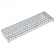 Escalones 4 uds Press-locked acero galvanizado 600x240 mm