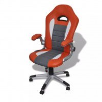 Fauteuil en similicuir moderne de bureau design orange