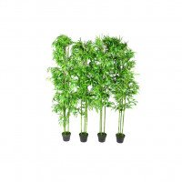 Lot de 4 bambous artificiels 190cm