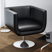 Chaise de bar Cuir artificiel Noir