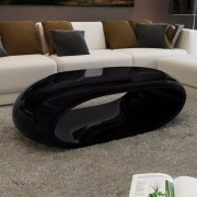 Table basse Fibre de verre Noir brillant