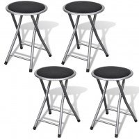 Tabouret de bar pliable 4 pcs