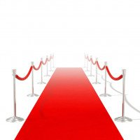 Tapis rouge 1 x 20 m Extra lourd 400 g/m2