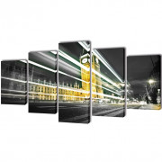 Set decorativo de lienzos para pared Big Ben de Londres 100 x 50 cm