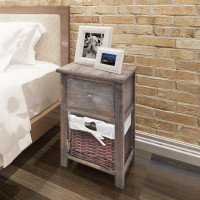 Table de chevet 2 pcs Bois Marron