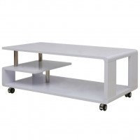 Table basse brillante Blanc
