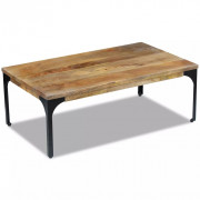 VidaXL Table basse Bois de manguier 100 x 60 x 35 cm