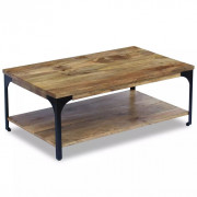 VidaXL Table basse Bois de manguier 100 x 60 x 38 cm