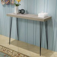 VidaXL Table console 90 x 30 x 71,5 cm Gris