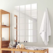 Carreau de miroir 24 pcs Carré Verre