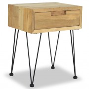 Table de chevet 40 x 30 x 50 cm Teck