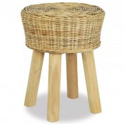 Sgabello da Bar 35x45 cm in Rattan Naturale