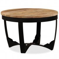 Table d'appoint Bois de manguier brut 60 x 40 cm