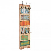 Perchero de pared LIVE LIFE con 6 ganchos 120x40 cm