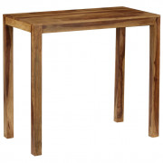 Table de bar Bois de Sesham massif 118 x 60 x 107 cm