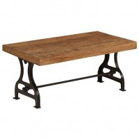 VidaXL Table basse Bois de traverses massif 100 x 60 x 40 cm