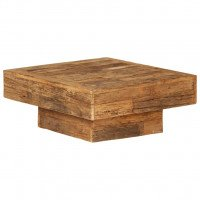 Table basse Bois de traverses massif 70 x 70 x 30 cm