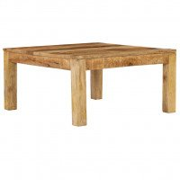 VidaXL Table basse 80x80x40 cm Bois de manguier massif