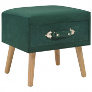 Table de chevet Vert 40x35x40 cm Velours