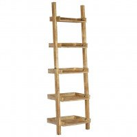 Ladder Shelf Brown 75x37x205 cm solido Mango Legno