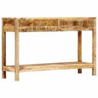 Table console 120 x 35 x 75 cm Bois de manguier massif