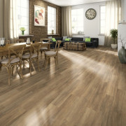Planches de plancher stratifié 24,8 m² 7 mm Brown Ampara Oak