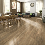 Planches de plancher stratifié 32,24 m² 7 mm Brown Ampara Oak