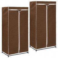 2 pcs Garde-robes Marron 75x50x160 cm