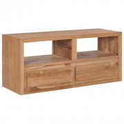 Mobile Porta TV 90x30x40 cm in Legno Massello di Teak