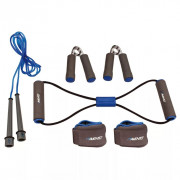 Kit de fitness gris/bleu cobalt/noir  41VE