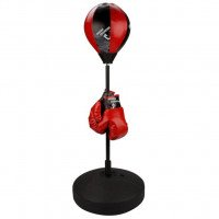 Punching ball  reflex junior noir/rouge