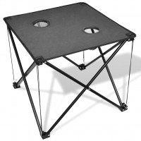 Table de camping pliante grise
