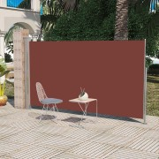 Tendalino laterale per patio terrazzo 160 x 300 cm marrone